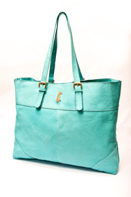 Turquoise Small Ring Tote Bag 3