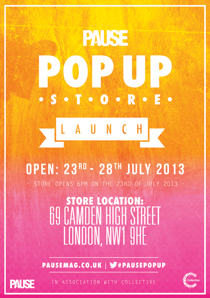 Event PAUSE Magazine Pop Up Shop