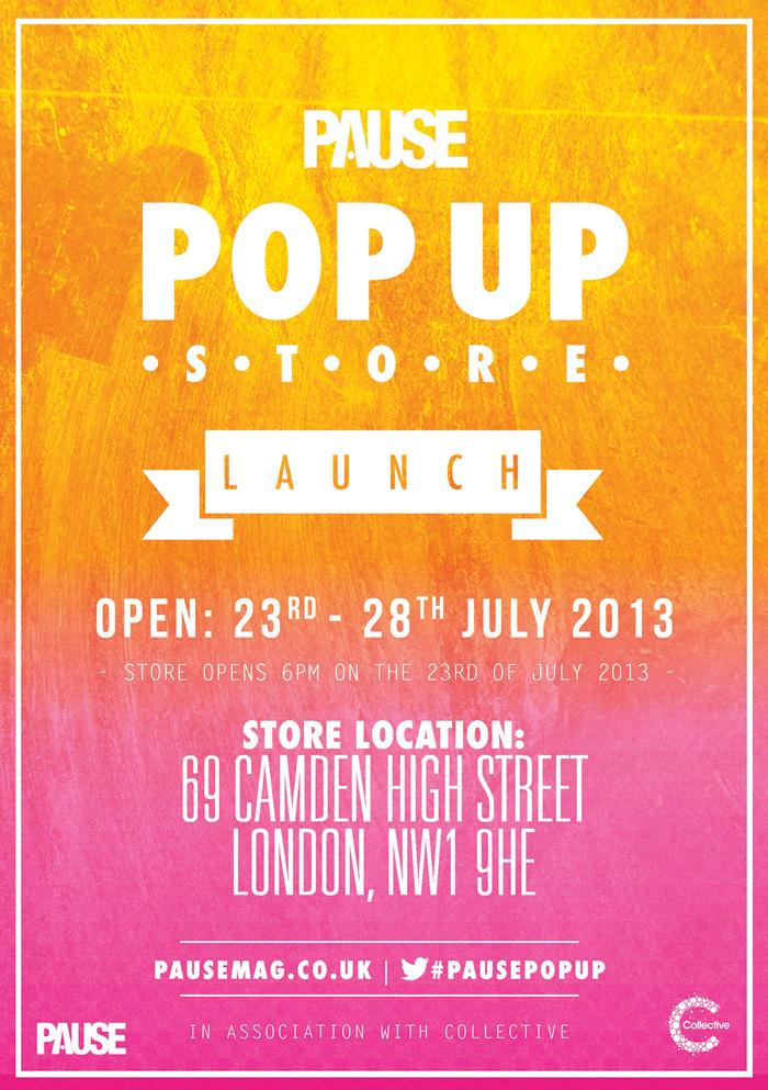 Event PAUSE Magazine Pop Up Shop