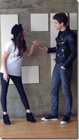 Temara Melek and Keegan Allen